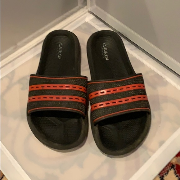 Black and red slides